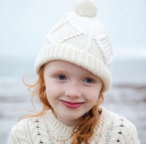 Child's Aran knit ski cap