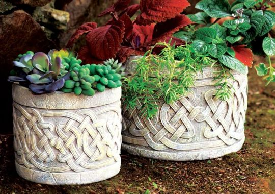 Set of 2 Celtic Planters