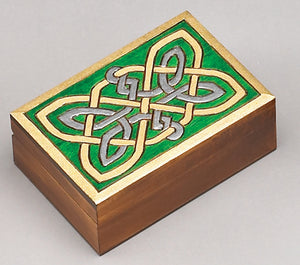 Hand Carved Celtic Knot Jewelry Box