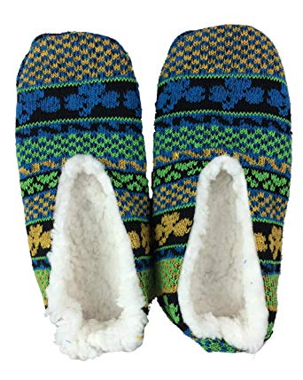 Shamrock Knit Fleece lined Slippers
