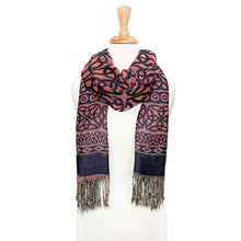 Stunning Trinity Knot Pashmina Blue and red.