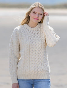 Aran Cable Crewneck Fisherman Sweater