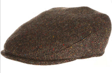 Vintage Tweed Hanna Traditional Irish Flat Cap Brown