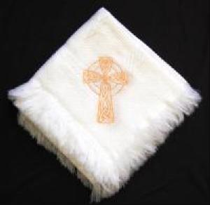 Celtic Cross Christening Blanket