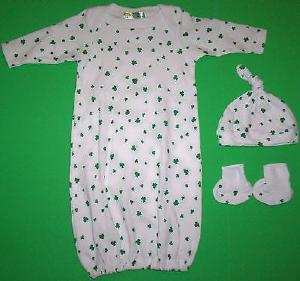 Infant's Shamrock Coming Home Outfit