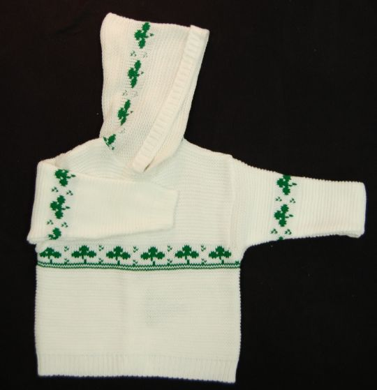 Baby Back Zip Shamrock Sweater