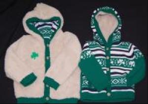 Kid's Reversable Shamrock Sweater