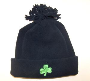 Kid's Fleece Hat with Embroidered Shamrock