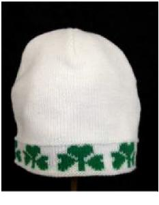 Child's Knit Shamrock Cap