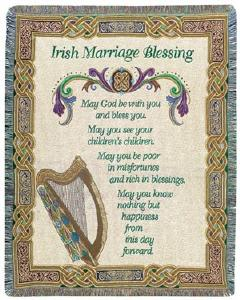 Irish Wedding Blessing Woven Throw