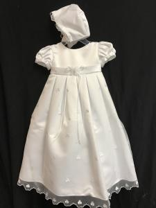 Shamrock Christening Gown & Matching Cap