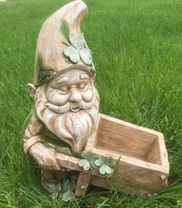 Leprechaun with Wheelbarrow Planter