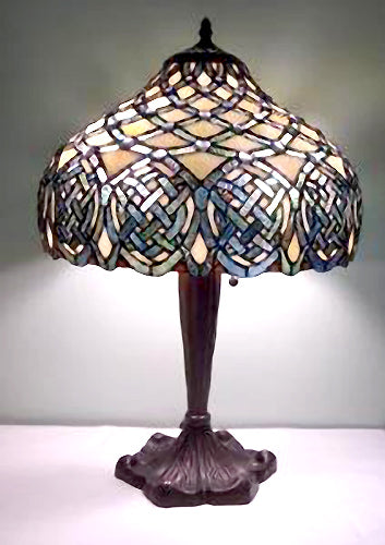 Jeweled Celtic Tiffany Stained Glass Lamp