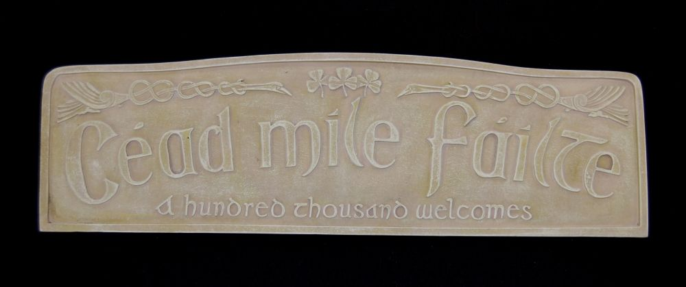 Cead Mile Failte Irish Welcome Plaque