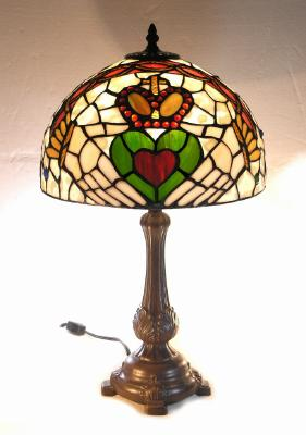 Claddagh Stained Glass Tiffany Lamp