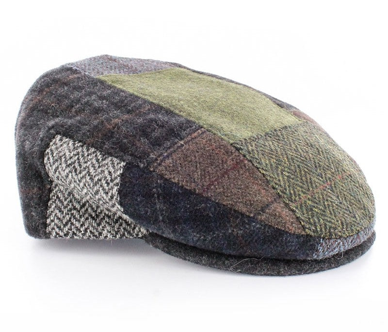 Kid's Tweed Irish Flat Caps Patchwork