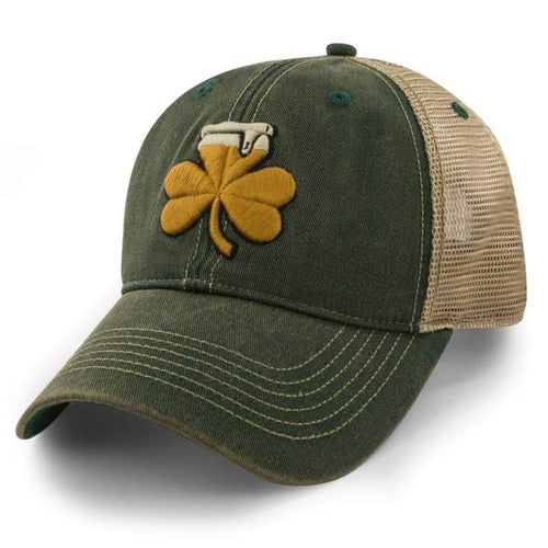 Shamrock Beer Dirty Water Trucker Hat - Dark Green