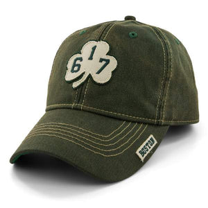 '617' SHAMROCK DIRTY WATER ADJUSTABLE HAT - DARK GREEN
