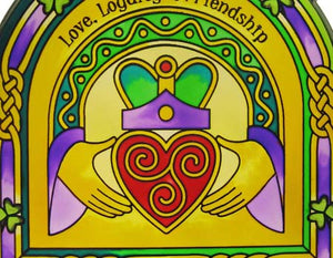 Claddagh Stained Glass Panel