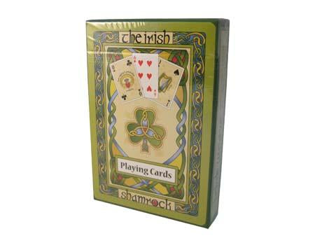 Celtic Shamrock Playing Cards