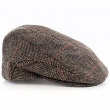 Mucross Weavers Trinity Traditional Wool Irish Flat Cap Brown herringbone
