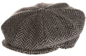 Eight Piece Irish Tweed Newsboy Cap Herringbone