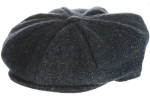 Eight Piece Irish Tweed Newsboy Cap Blue