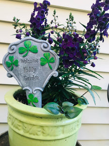Irish Welcome to my Garden Stake