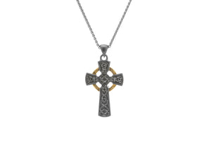 Keith Jack Silver and 10K Gold Intricate Celtic Crosses