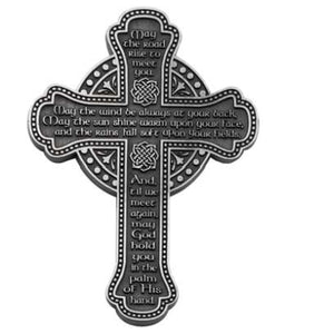 Pewter Irish Blessing Cross