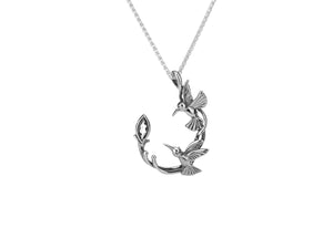 Keith Jack Sterling Silver Hummingbird Pendant