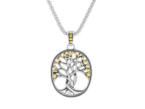 Sterling Silver and Gold Keith Jack Tree of Life Pendant