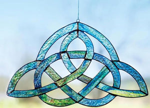 Stained Glass Trinity Knot