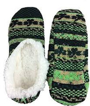 Shamrock Patterned Knitted Slippers