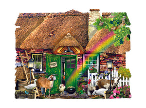 Irish Cottage - 1000pc Shaped Jigsaw Puzzle