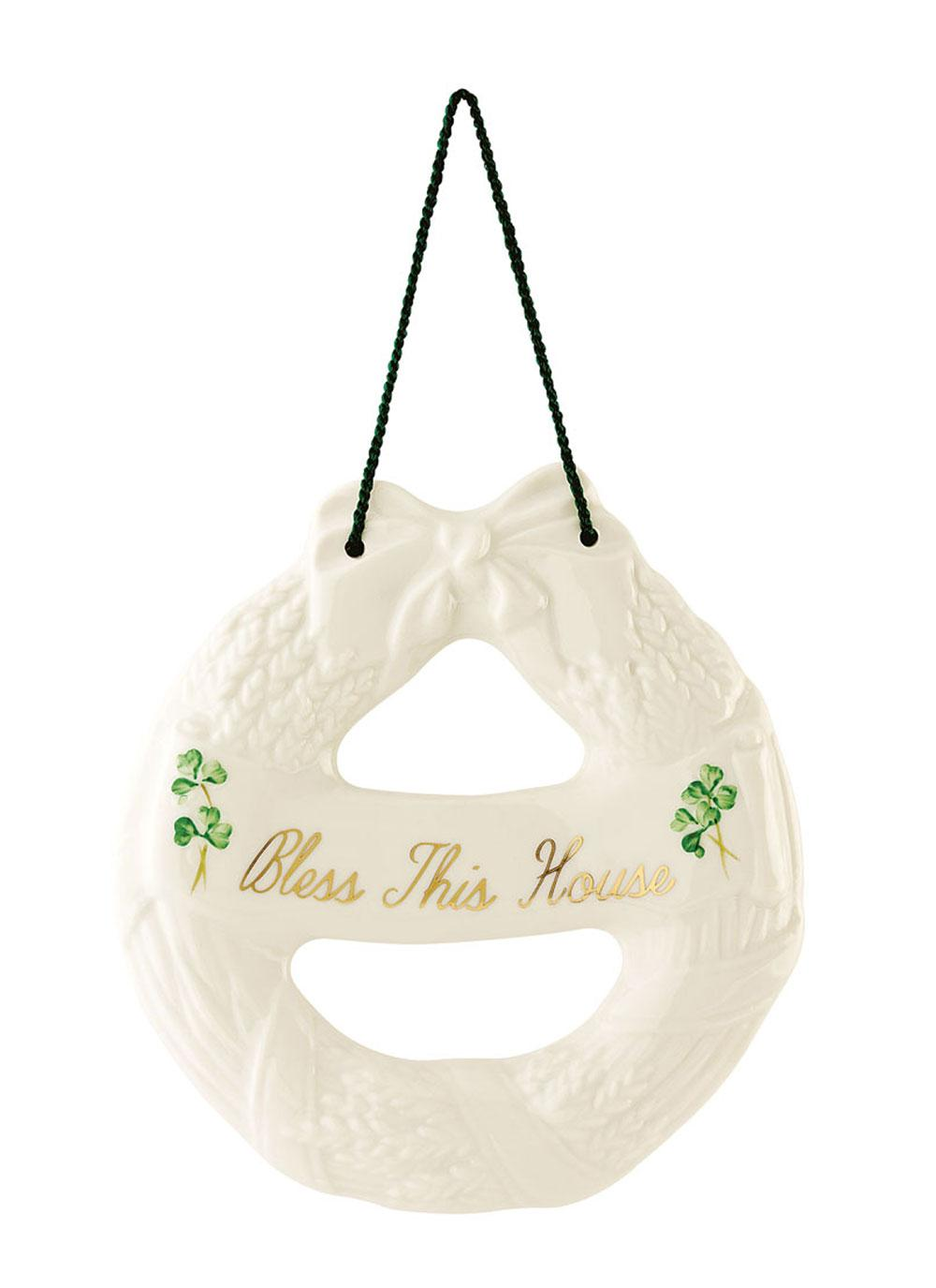 Belleek Shamrock House Blessing Wreath