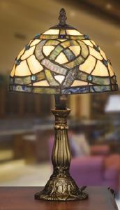 Celtic Knotwork Stained Glass Lamp