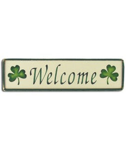 Rustic Wood Irish Welcome Sign
