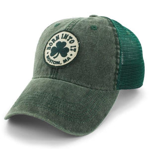 "BORN INTO IT SHAMROCK ""COBBLESTONE TRUCKER"" MESH HAT - GREEN"