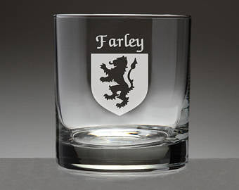 Personalized Coat of Arms Rocks Glasses