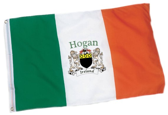 Personalized Coat of Arms Irish Flag
