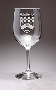 Personalized Coat of Arms Wine Glass Set of 4
