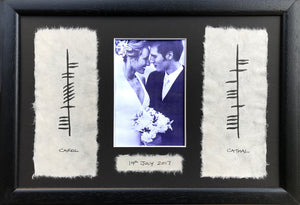 Personalized Ogham Wedding Frame