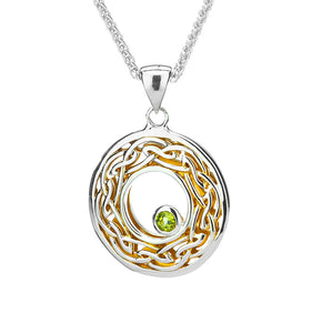 Window to the Soul Pendant set with Peridot