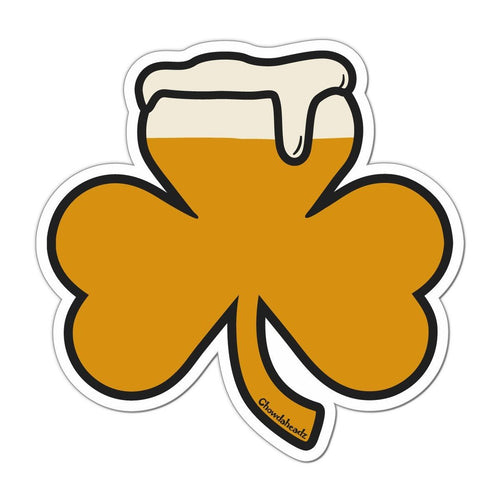 Shamrock on tap sticker