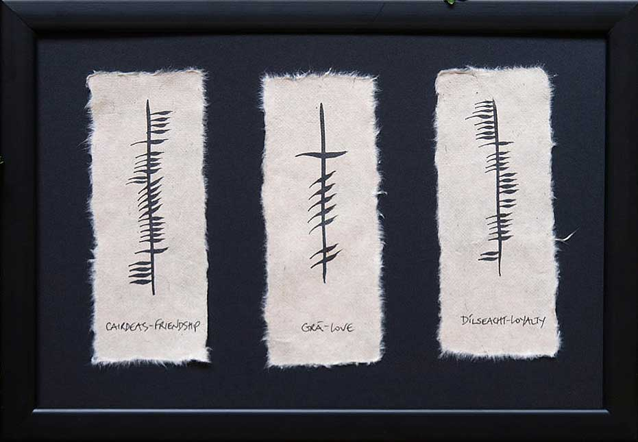 Friendship, Love, & Loyalty Ogham