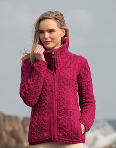 Wicklow Double Collar Zip Cardigan
