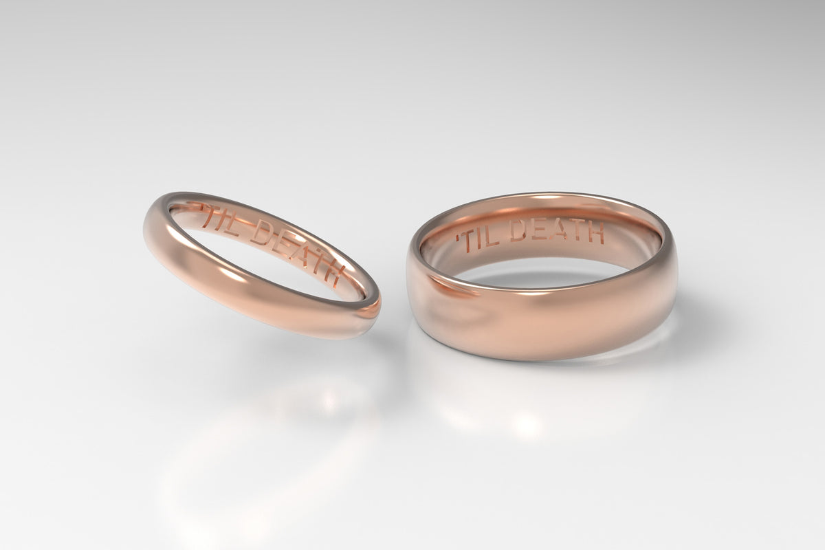HOLDEN wedding rings with engravings