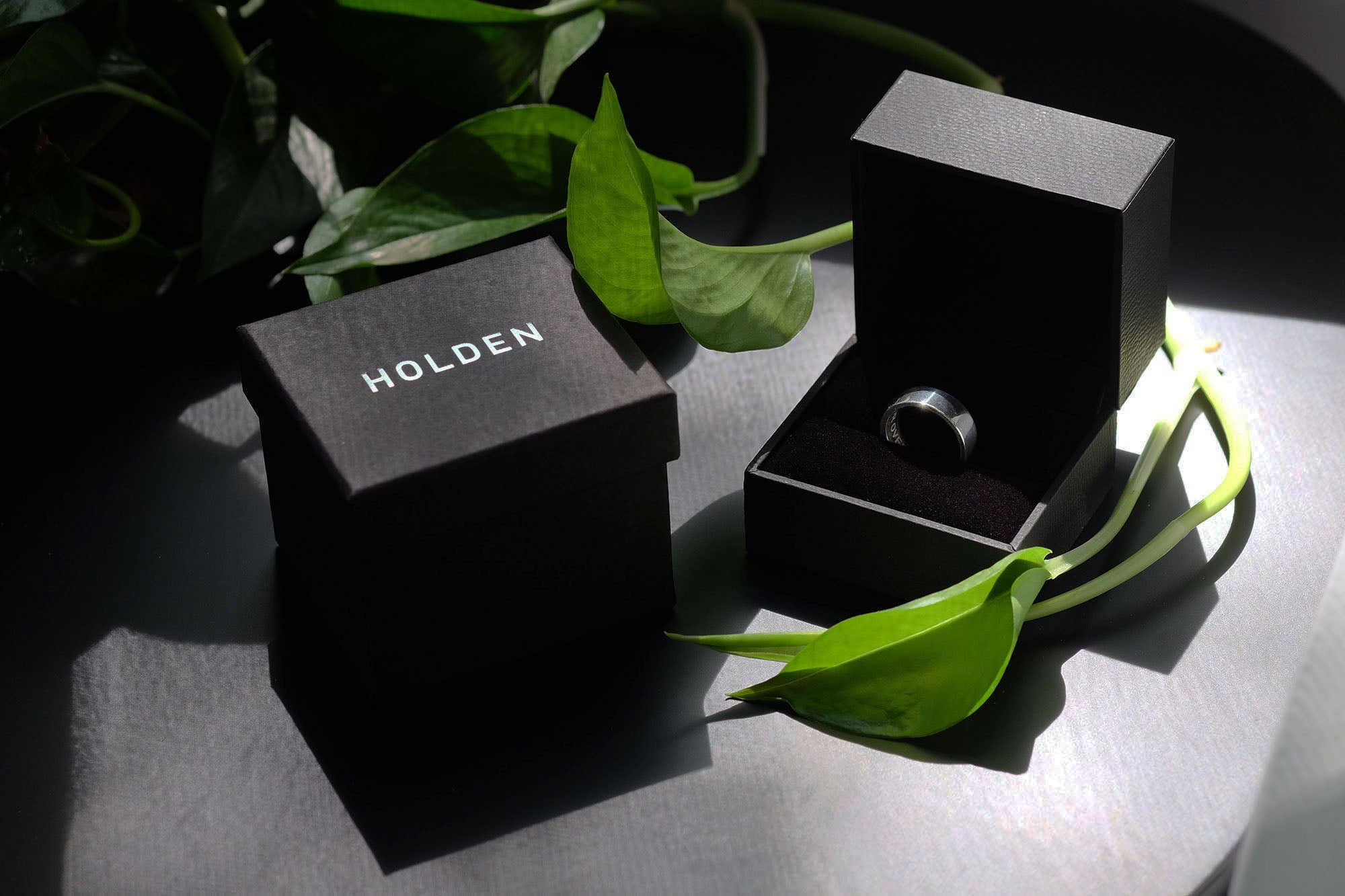 HOLDEN wedding band in packaging