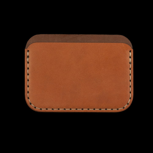 Round Wallet in Saddle Tan